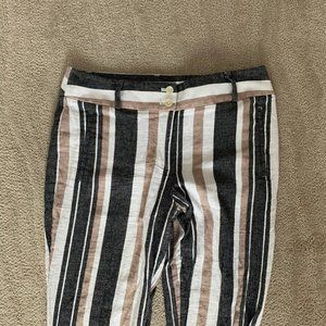 LOFT Julie Size 6 Striped Pants